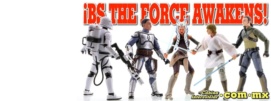 ¡Black Series The Force Awakens 6 Inch!