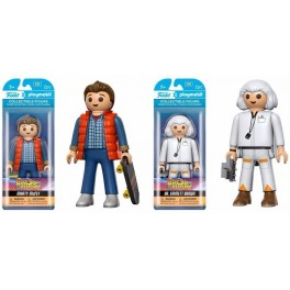 Funko X Playmobil: Marty McFly & Emmett Brown [2 Piezas]