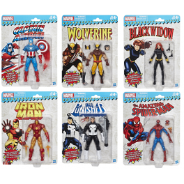 Marvel Legends Retro: 1er Ola Completa [6 Piezas]